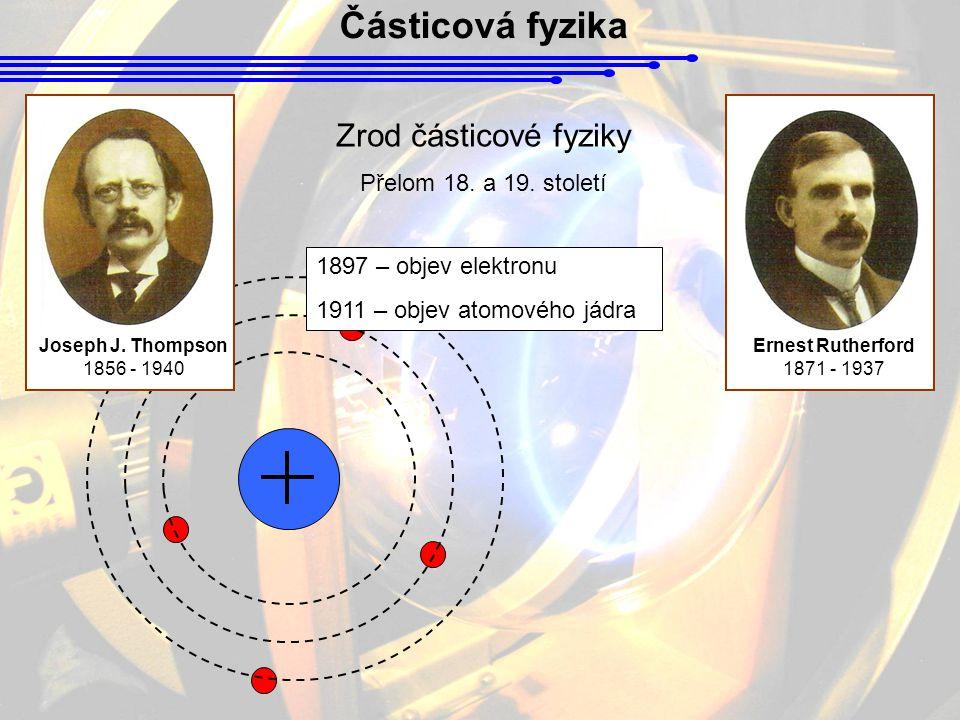 Částicová fyzika Zrod částicové fyziky Přelom 18. a 19. století