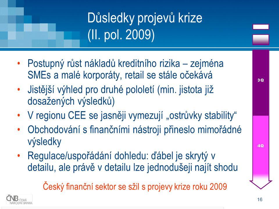 Důsledky projevů krize (II. pol. 2009)