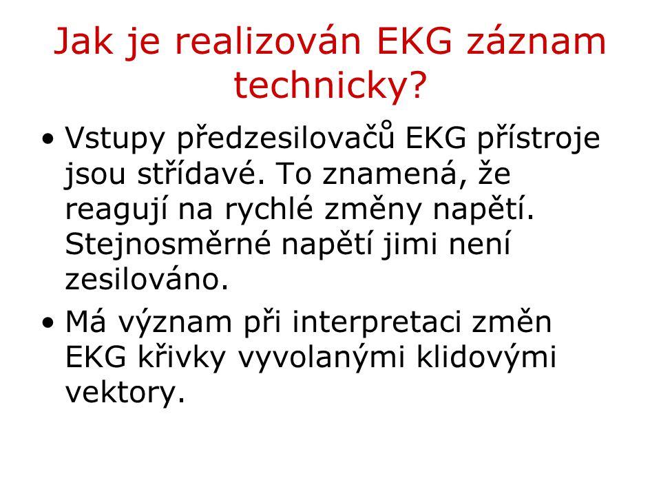 Jak je realizován EKG záznam technicky