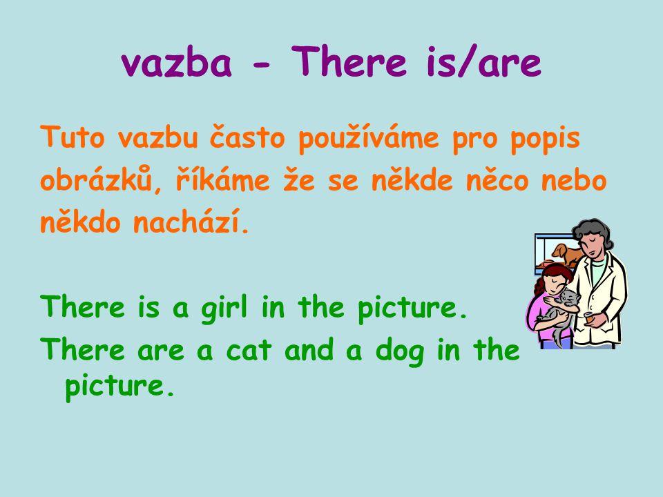vazba - There is/are Tuto vazbu často používáme pro popis