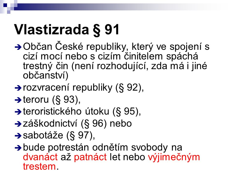 Vlastizrada § 91