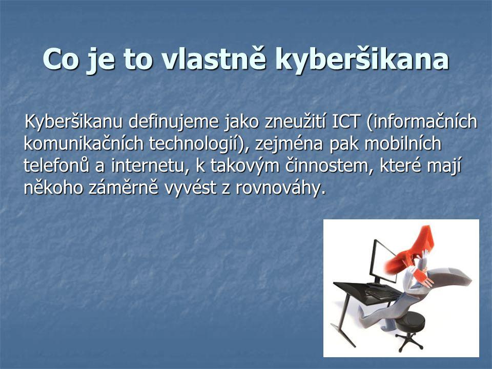 Co je to vlastně kyberšikana