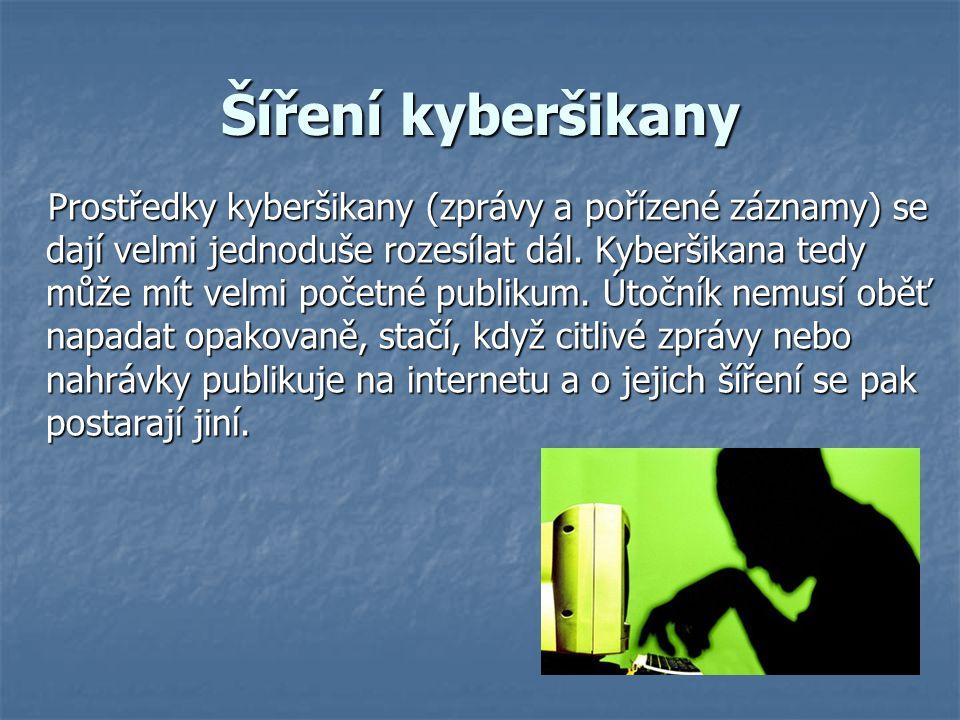 Šíření kyberšikany