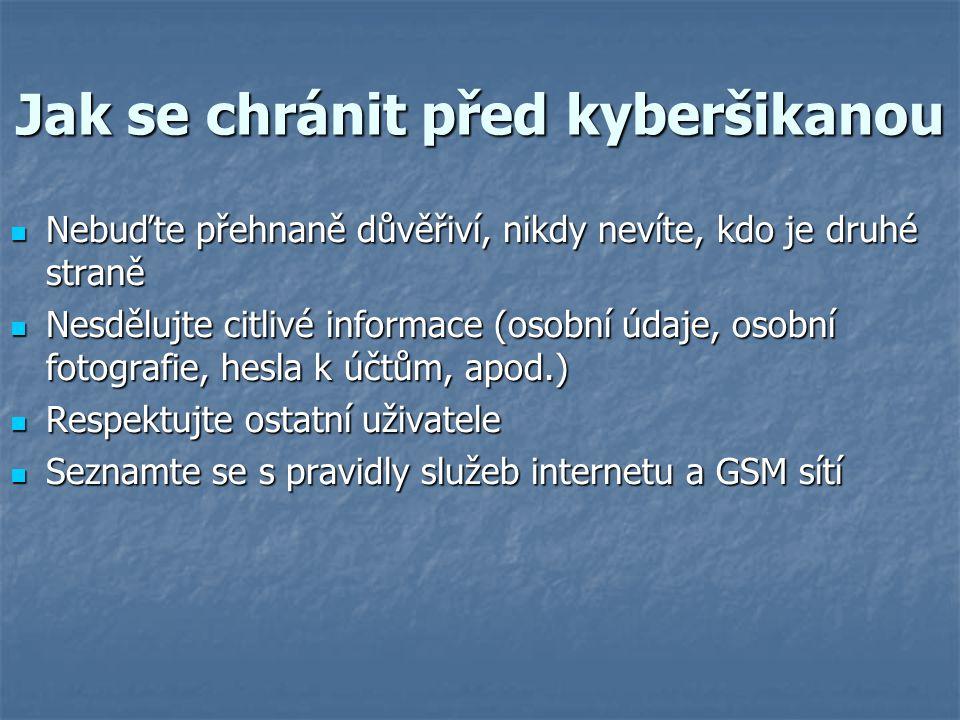 Jak se chránit před kyberšikanou