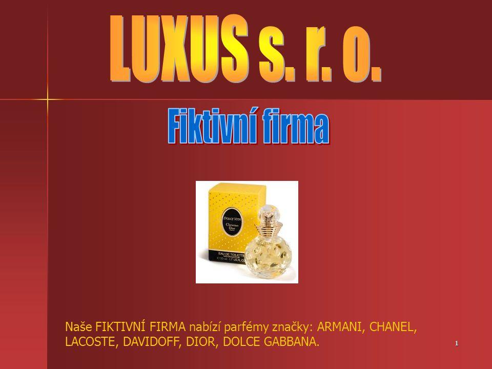 LUXUS s. r. o. Fiktivní firma