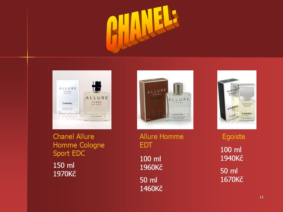 CHANEL: Chanel Allure Homme Cologne Sport EDC Allure Homme EDT Egoiste