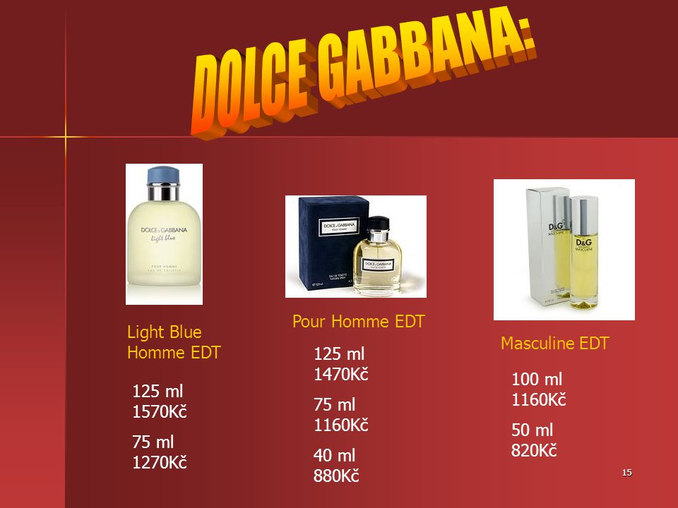 DOLCE GABBANA: Pour Homme EDT Light Blue Homme EDT Masculine EDT