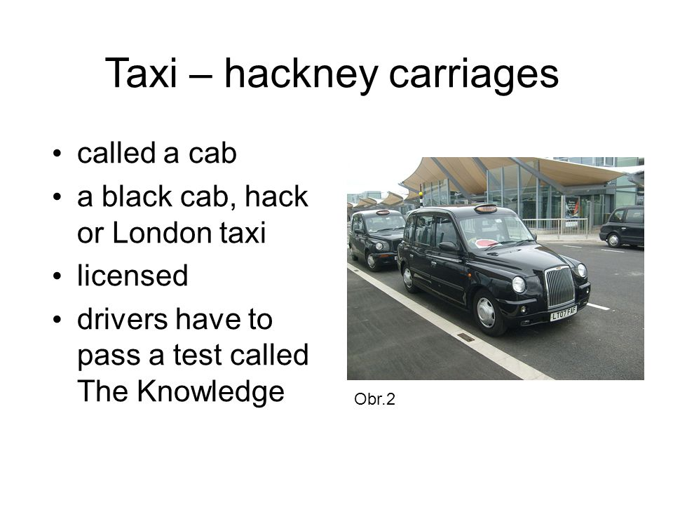 Taxi – hackney carriages
