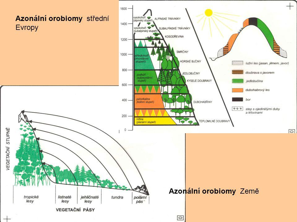 Azonální orobiomy střední Evropy