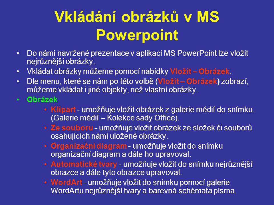 Vkládání obrázků v MS Powerpoint