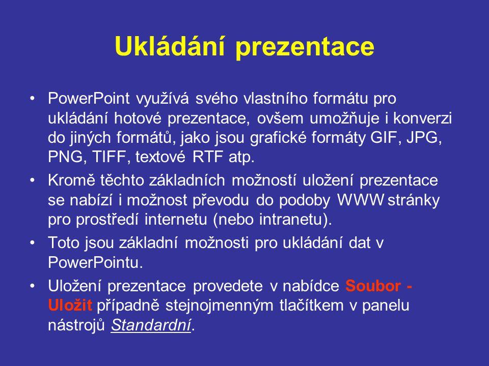 Ukládání prezentace