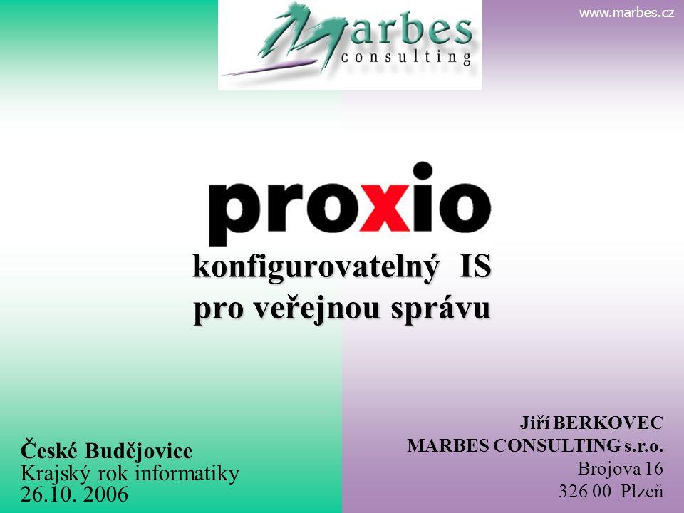 P R O X I O konfigurovatelný IS pro veřejnou správu