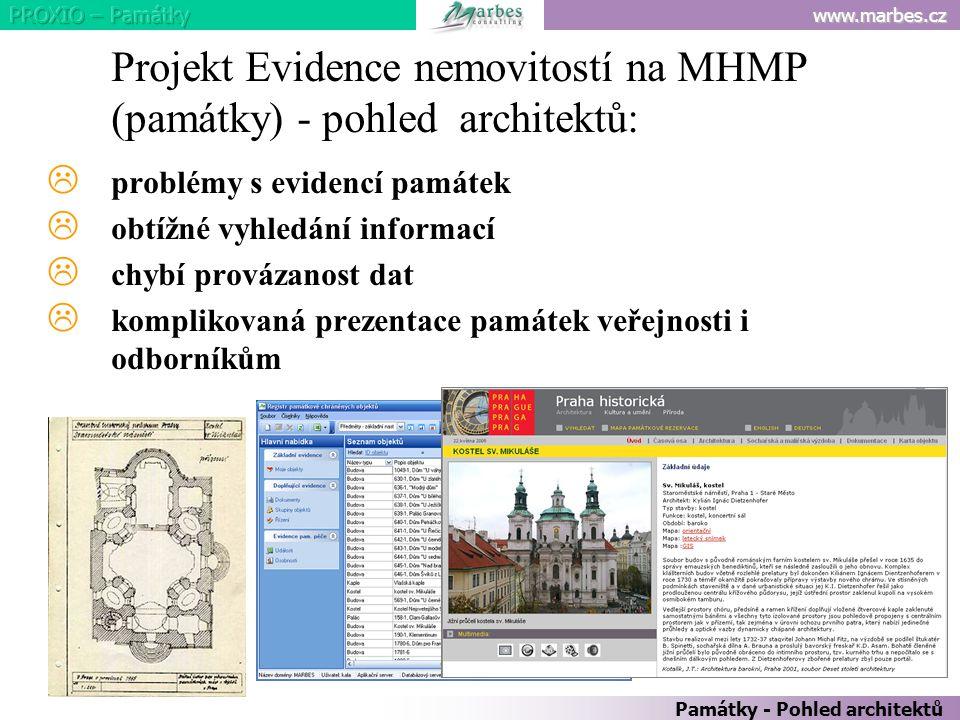 Projekt Evidence nemovitostí na MHMP (památky) - pohled architektů: