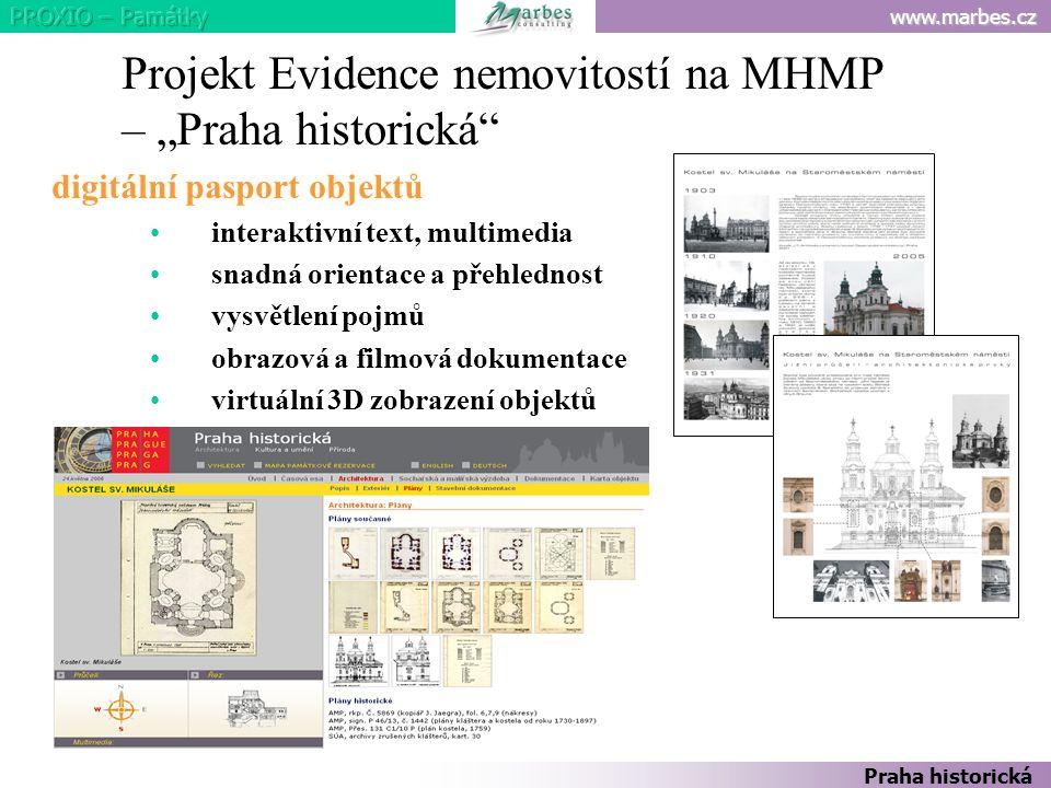 """Projekt Evidence nemovitostí na MHMP – """"Praha historická"""