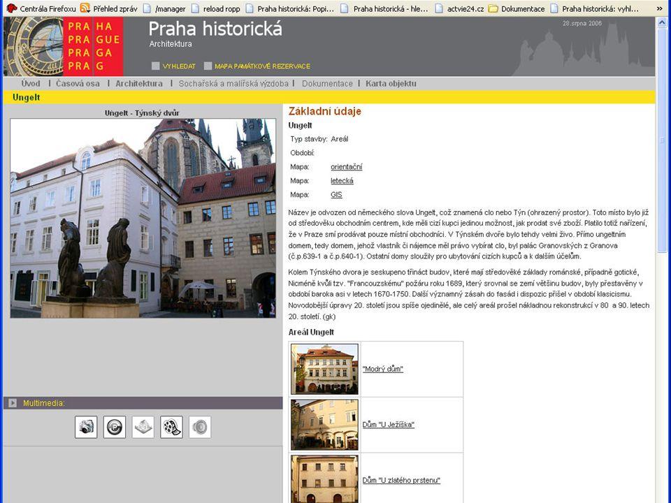 PROXIO – Památky (obsah databáze)