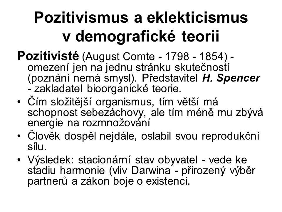 Pozitivismus a eklekticismus v demografické teorii
