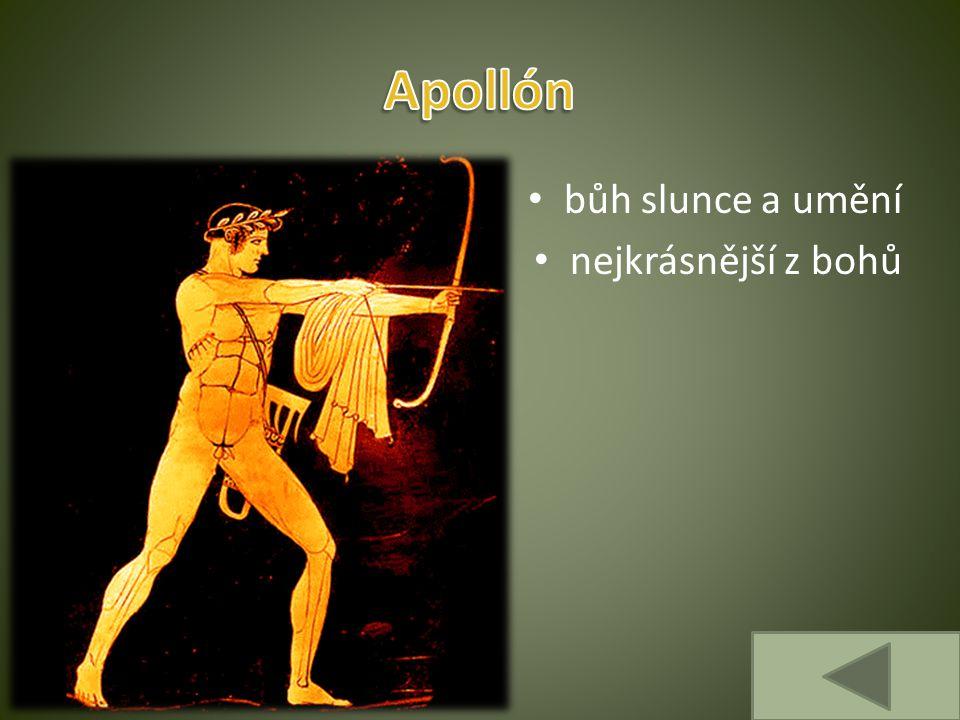 Apollón bůh slunce a umění nejkrásnější z bohů