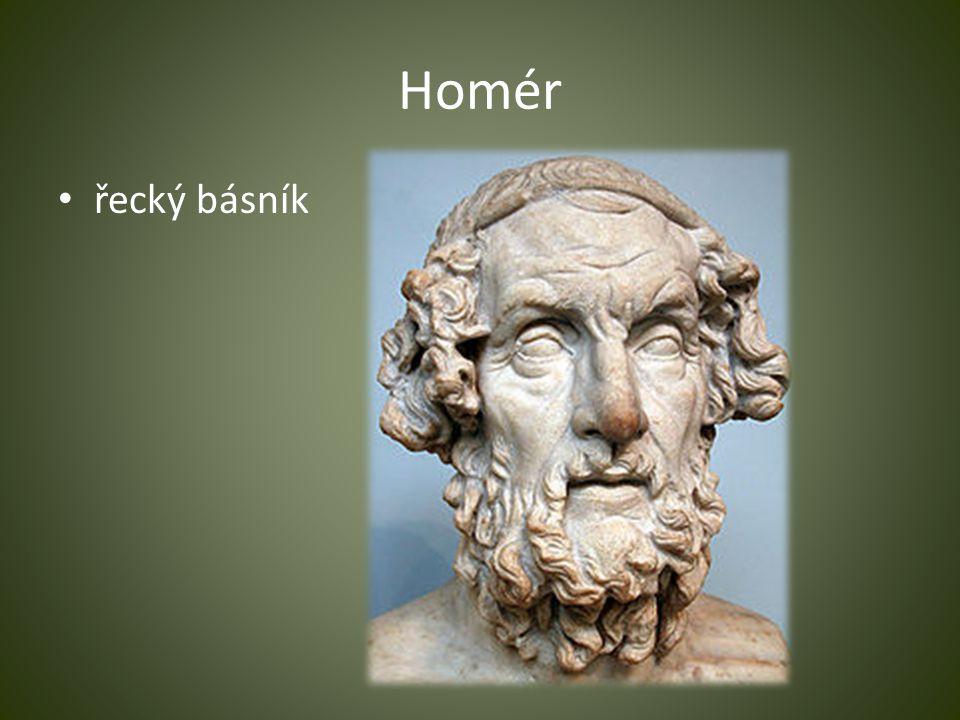 Homér řecký básník