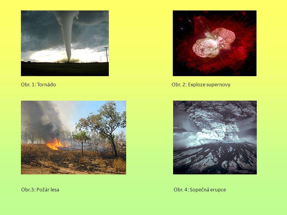 Obr.3: Požár lesa Obr. 4: Sopečná erupce