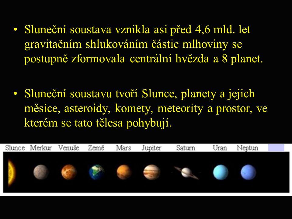 Sluneční soustava vznikla asi před 4,6 mld