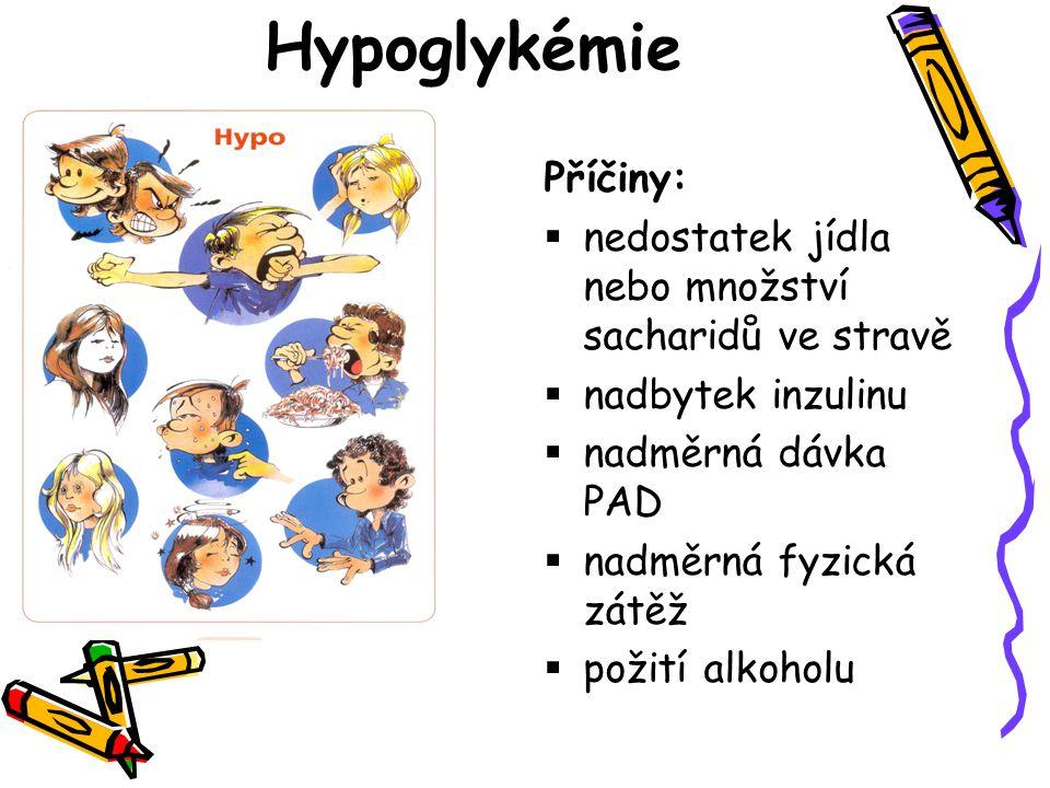 Hypoglykémie Příčiny: