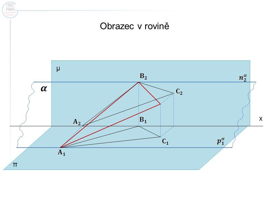 Obrazec v rovině μ x π