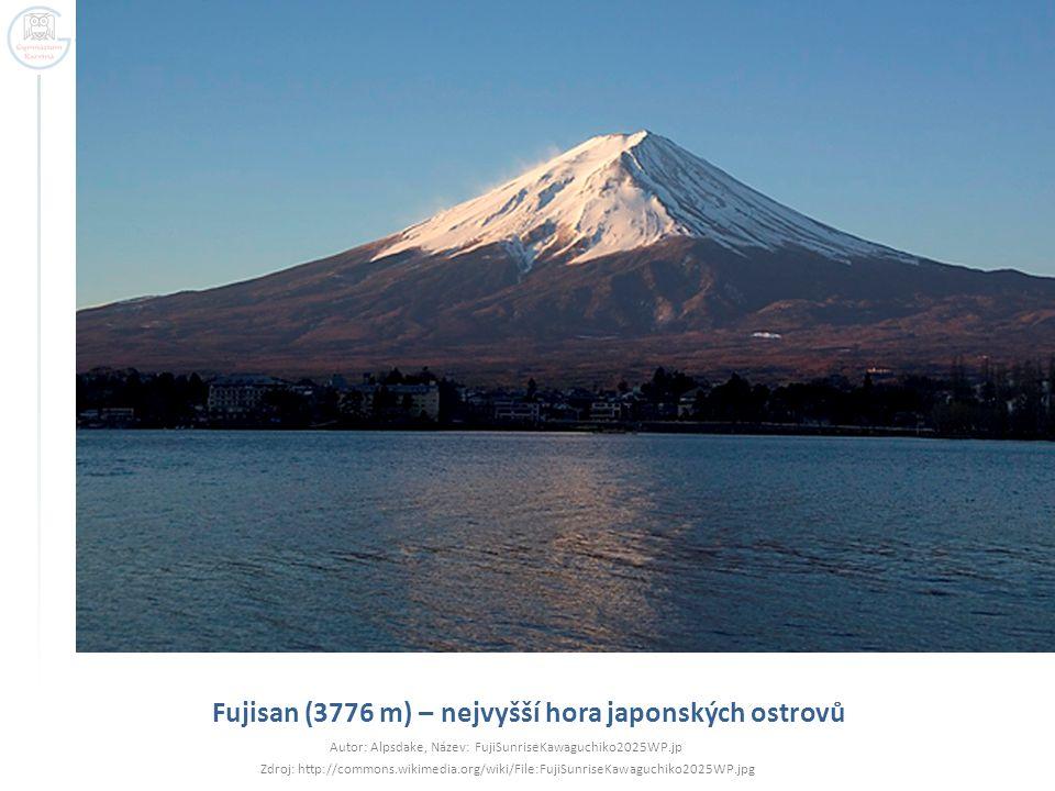 Fujisan (3776 m) – nejvyšší hora japonských ostrovů