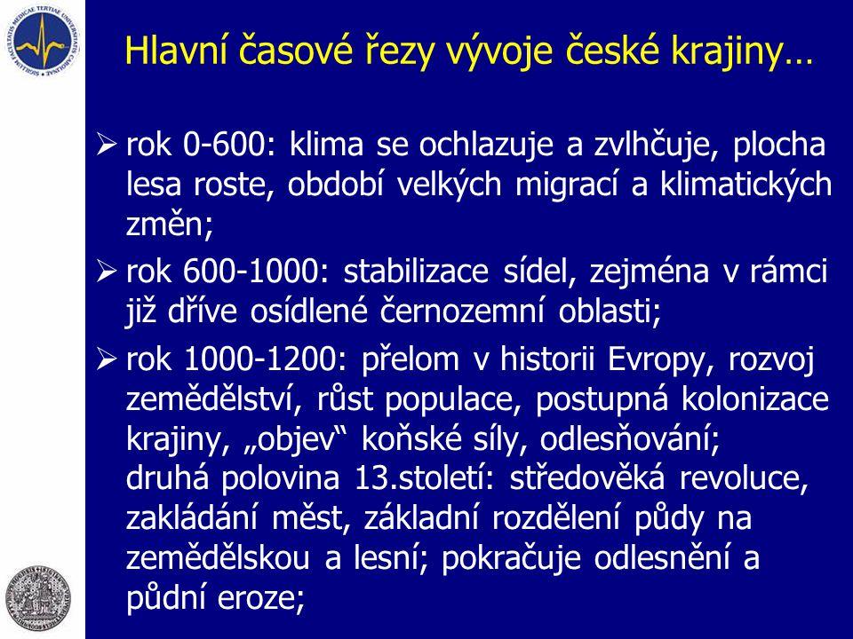 Hlavní časové řezy vývoje české krajiny…