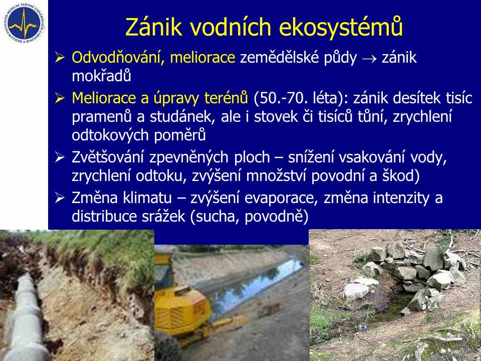 Zánik vodních ekosystémů