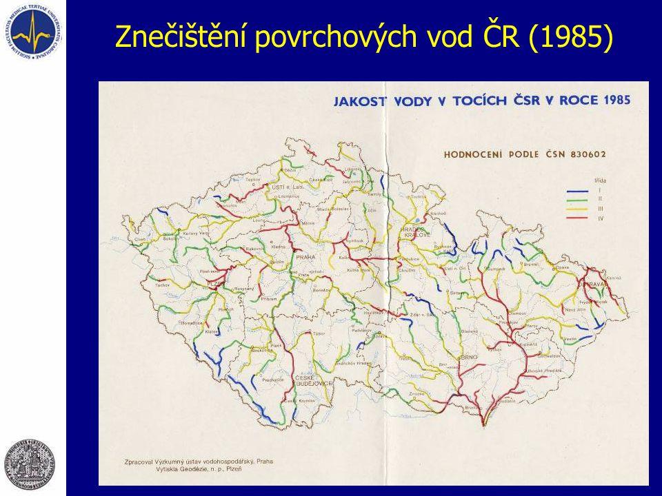 Znečištění povrchových vod ČR (1985)