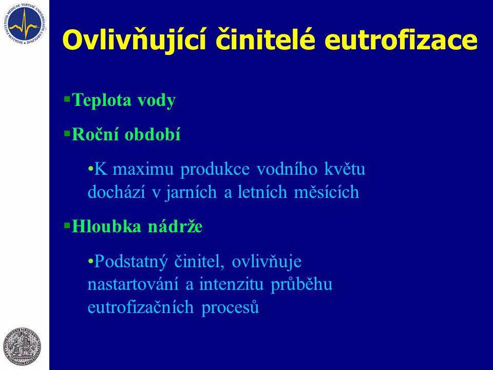 Ovlivňující činitelé eutrofizace