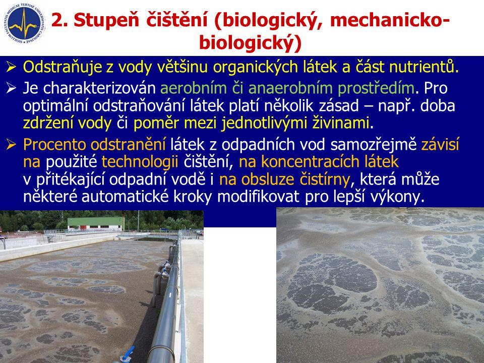 2. Stupeň čištění (biologický, mechanicko-biologický)