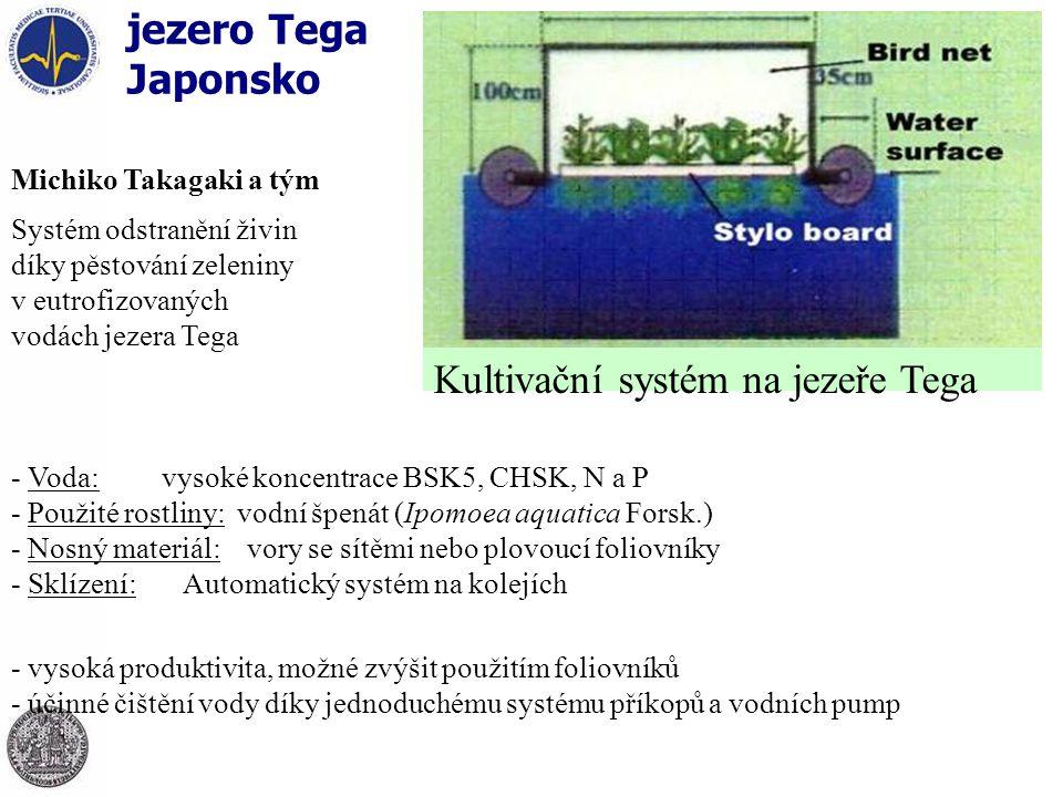 Kultivační systém na jezeře Tega
