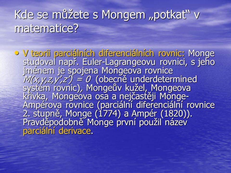"""Kde se můžete s Mongem """"potkat v matematice"""