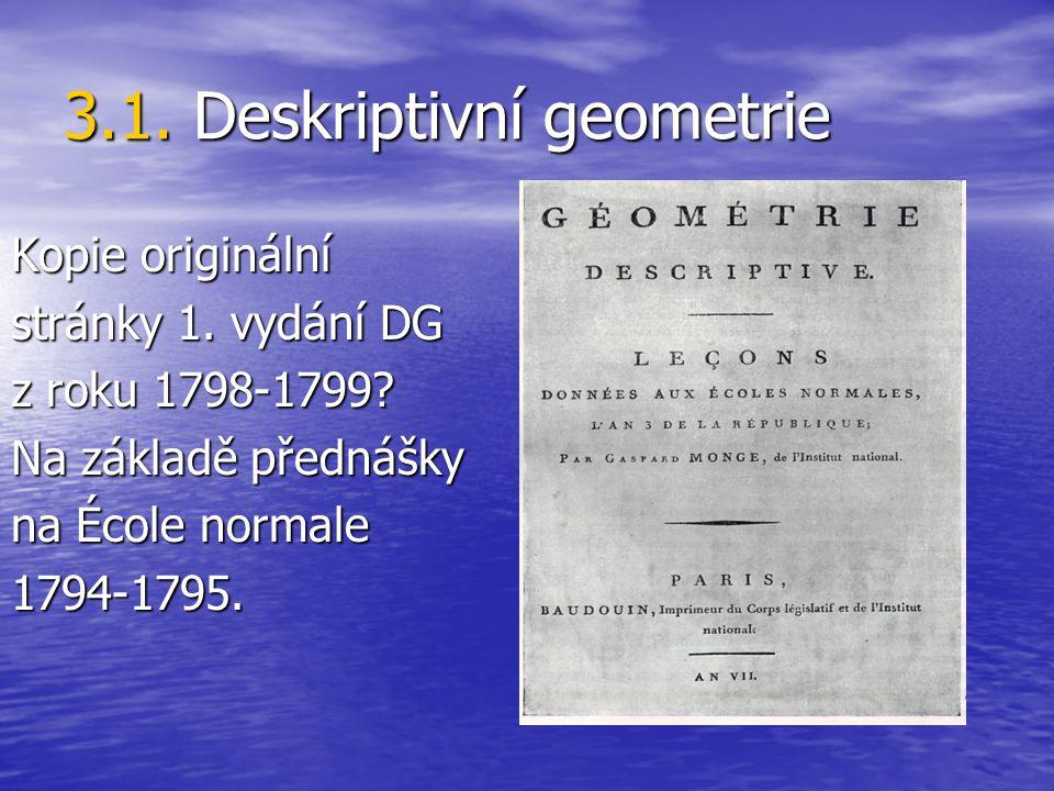 3.1. Deskriptivní geometrie