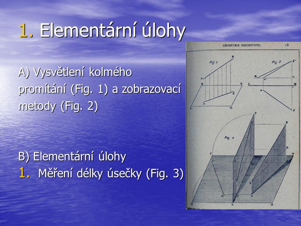 1. Elementární úlohy A) Vysvětlení kolmého