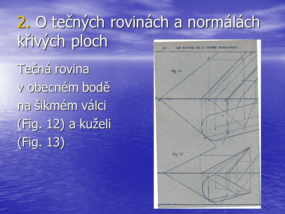 2. O tečných rovinách a normálách křivých ploch