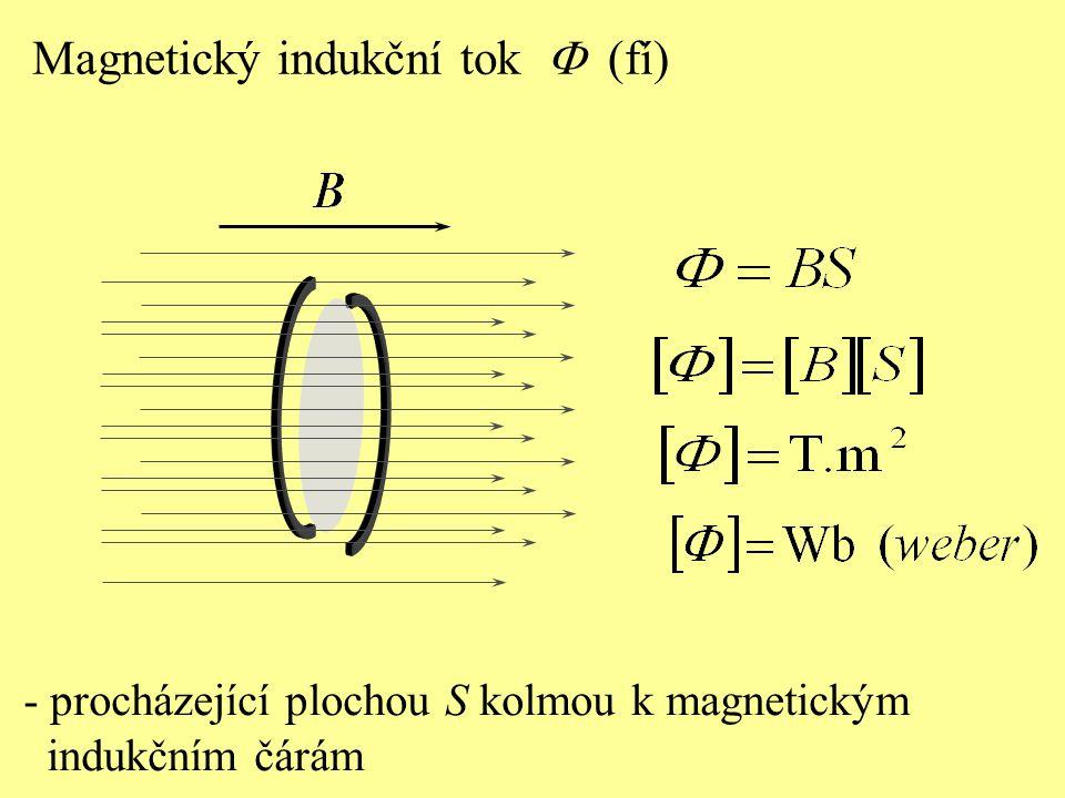 Magnetický indukční tok F (fí)