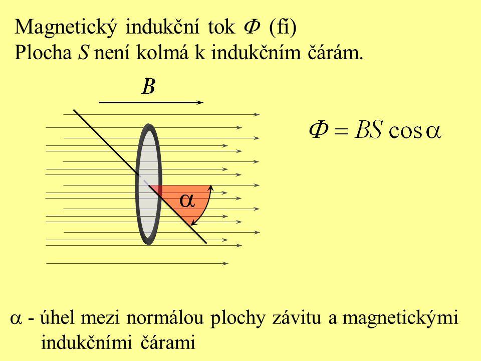 a Magnetický indukční tok F (fí)