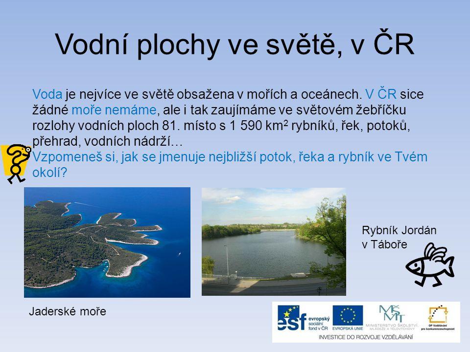 Vodní plochy ve světě, v ČR