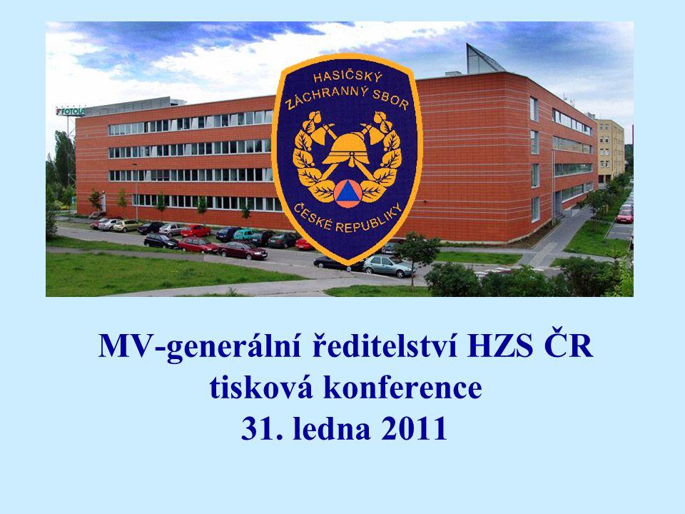 MV-generální ředitelství HZS ČR tisková konference 31. ledna 2011