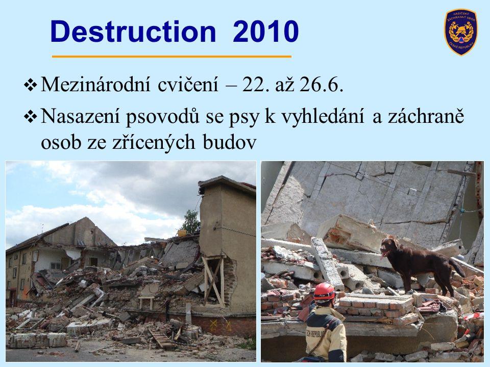 Destruction 2010 Mezinárodní cvičení – 22. až 26.6.