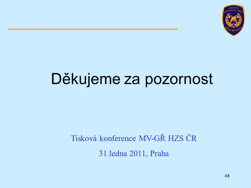 Tisková konference MV-GŘ HZS ČR
