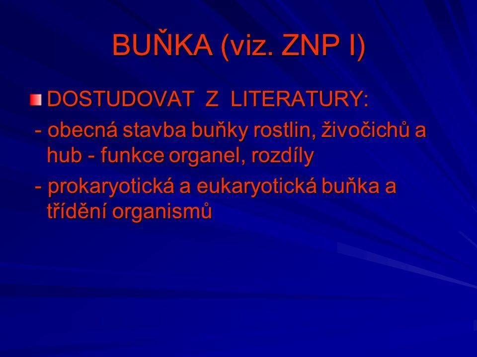 BUŇKA (viz. ZNP I) DOSTUDOVAT Z LITERATURY:
