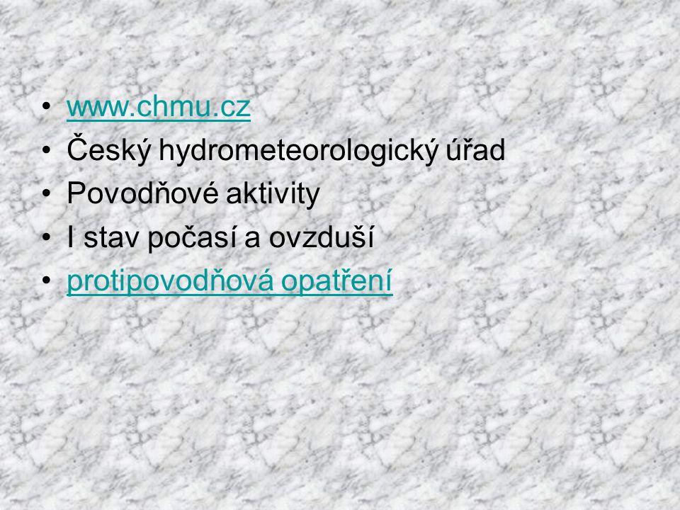 www.chmu.cz Český hydrometeorologický úřad. Povodňové aktivity.