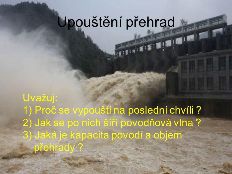 Upouštění přehrad