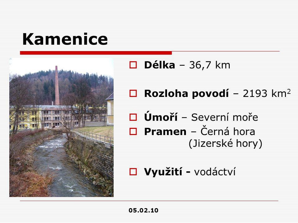 Kamenice Délka – 36,7 km Rozloha povodí – 2193 km2