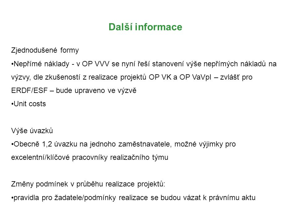 Další informace Zjednodušené formy