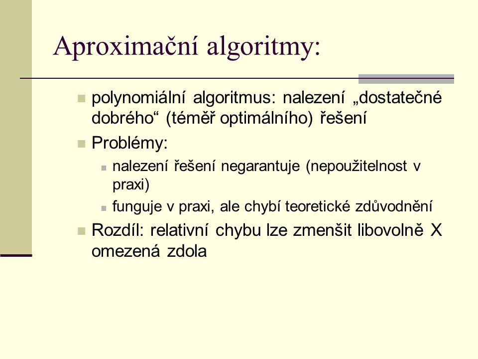 Aproximační algoritmy: