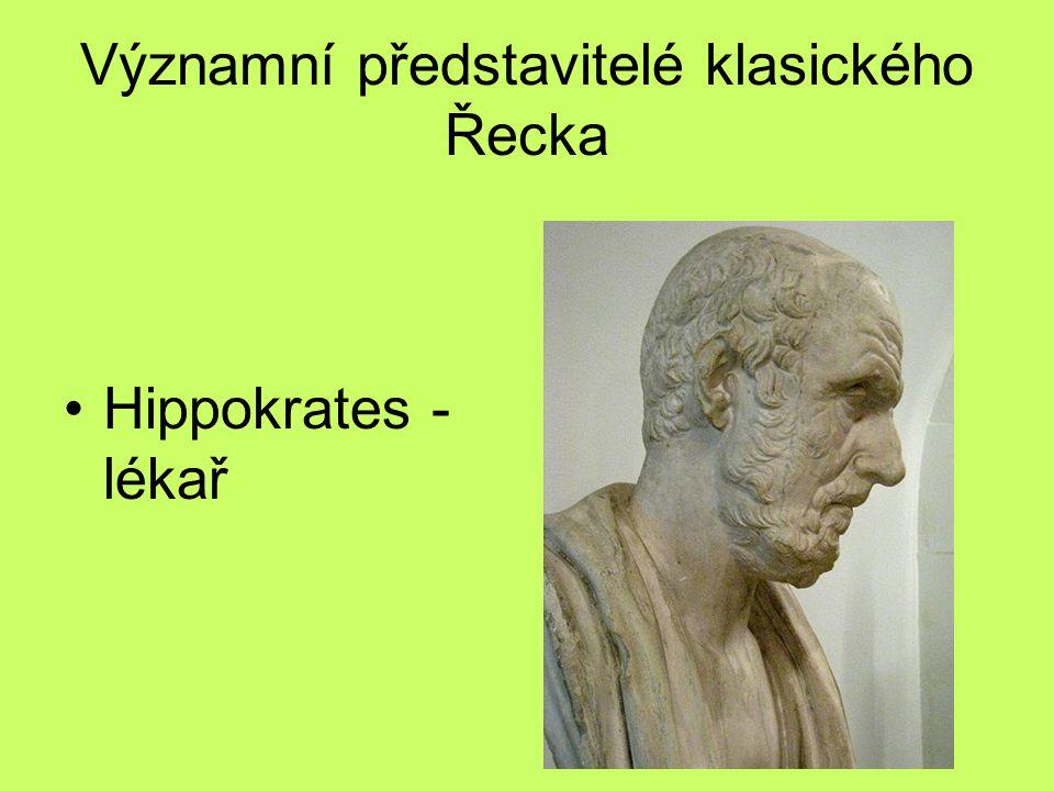 Významní představitelé klasického Řecka